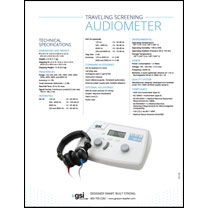 GSI 18 Portable Audiometer Data Sheet